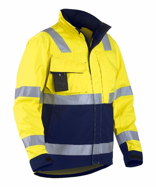 Blaklader 4064 High Visibility Jacket Yellow Navy Blue