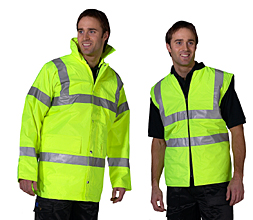4 In 1 Traffic Jacket And Bodywarmer