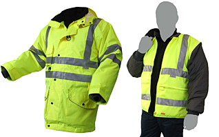 Click B Seen 7-in-1 Hi Vis Elsener Jacket