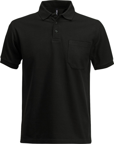 Fristads Acode Heavy Pique Polo Shirt with Pocket 1721 PIQ (Black)