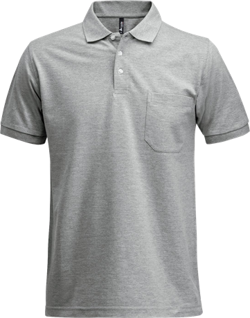 Fristads Acode Heavy Pique Polo Shirt with Pocket 1721 PIQ (Grey Melange)