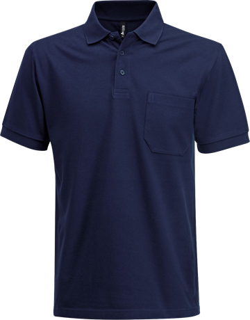 Fristads Acode Heavy Pique Polo Shirt with Pocket 1721 PIQ (Navy)