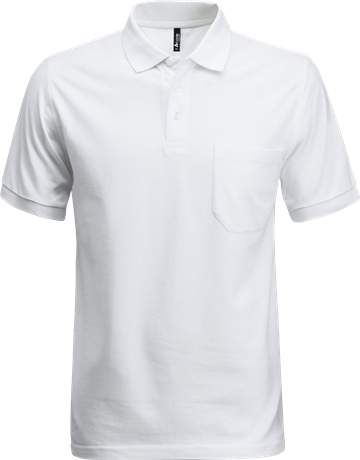 Fristads Acode Heavy Pique Polo Shirt with Pocket 1721 PIQ (White)