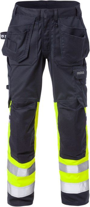 Fristads Flamestat Stretch Craftsman Trousers Woman Class 1 2171 ATHF  (High Vis Yellow/Navy)