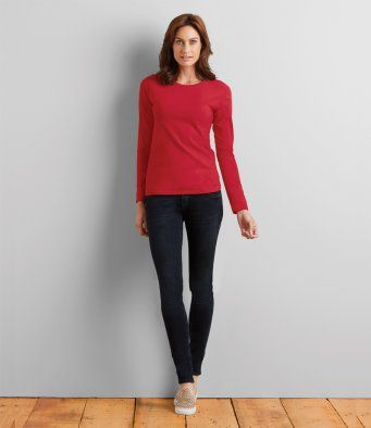 GD76 Gildan Ladies SoftStyle® Long Sleeve T-Shirt