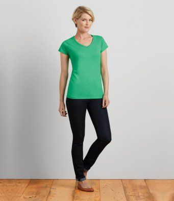 GD78 Gildan SoftStyle® Ladies V Neck T-Shirt