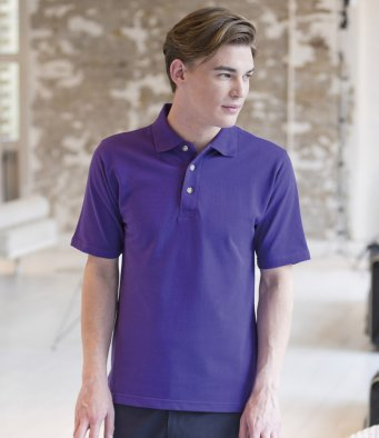 Henbury Classic Polo With Stand Up Collar HB100