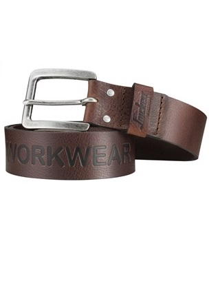 Snickers 9034 Leather Belt (Chocolate Brown)