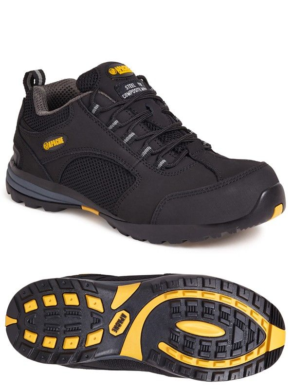Apache AP318SM Black Safety Trainers