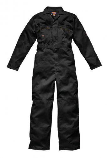 Dickies WD001 Redhawk Zip Front Coverall (Black)