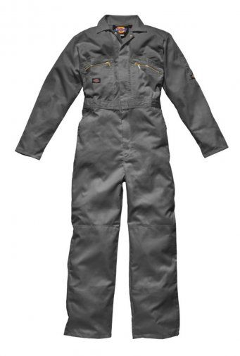 Dickies WD001 Redhawk Zip Front Coverall (Grey)