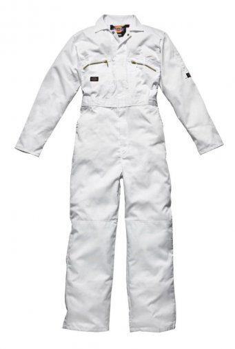 Dickies WD001 Redhawk Zip Front Coverall (White)