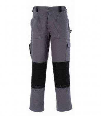 Dickies WD012 Duo Tone Grafter Trousers (Grey/Black)