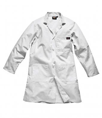 Dickies WD056 Redhawk Warehouse Coat (White)