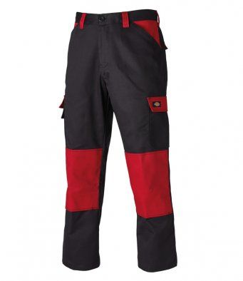 Dickies WD340 Everyday 24-7 Trousers (Black/Red)