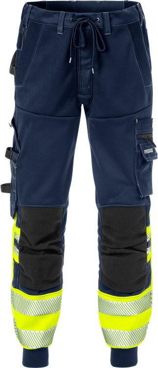 Fristads 2518 High Vis Jogger Trouser Class 1 2518 SSL (High Vis Yellow/Navy)
