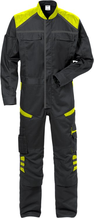Fristads Coverall 8555 STFP (Black/High Vis Yellow)