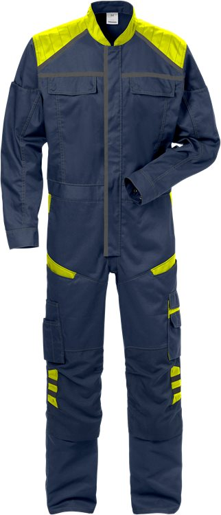 Fristads Coverall 8555 STFP (Navy/High Vis Yellow)