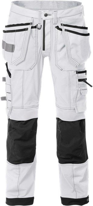 Fristads Craftsman Stretch Trousers 2530 CYD (White/Black)
