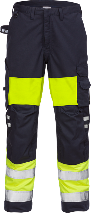 Fristads Flame High Vis Trousers Woman CL 1 2776 ATHS (Hi Vis Yellow/Navy)