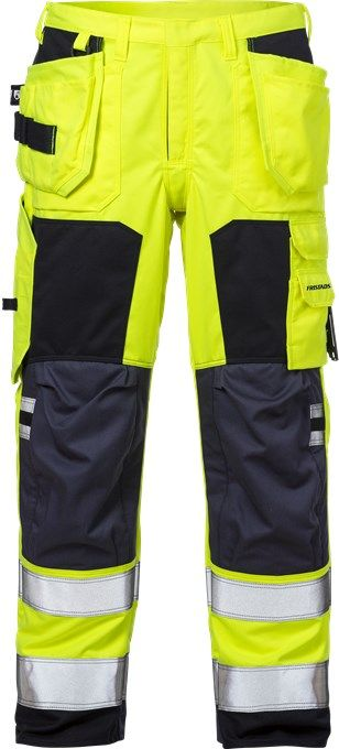 Fristads Flamestat High Vis Craftsman Trousers CL 2 2075 ATHS (High Vis Yellow/Navy)