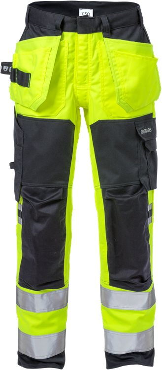 Fristads Flamestat High Vis Stretch Craftsman Trousers Class 2 2167 ATHF (High Vis Yellow/Navy)