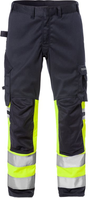 Fristads Flamestat High Vis Stretch Trousers Class 1 2162 ATHF (High Vis Yellow/Navy)