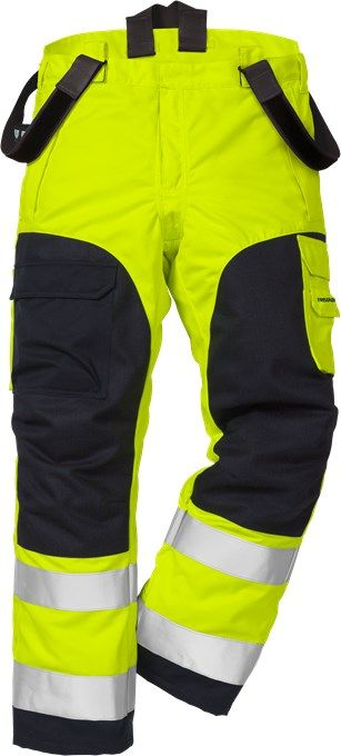 Fristads Flamestat High Vis Winter Trousers CL 2 2085 ATHS (Hi Vis Yellow/Navy)
