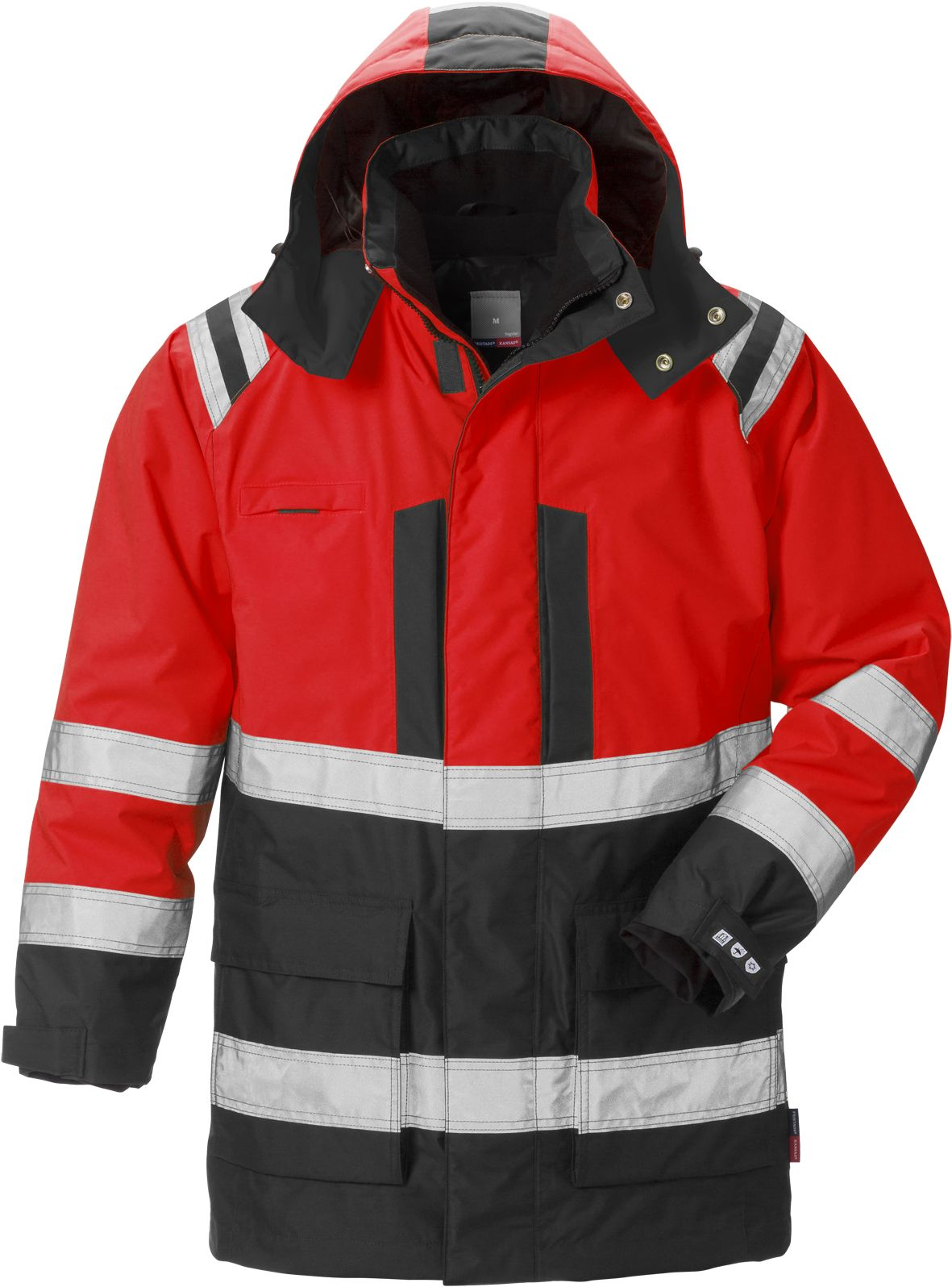 0487bdf5 Fristads High Vis Airtech 3-In-1 Parka CL 3 4036 GTT Hi Vis Red Black
