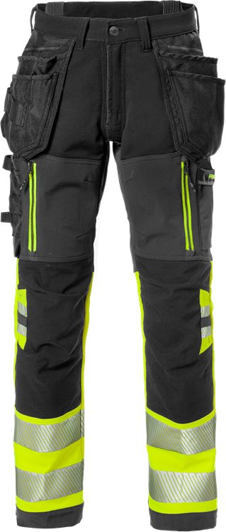 Fristads High Vis Craftsman Stretch Trousers Class 1 2568 STP (High Vis Yellow/Black)