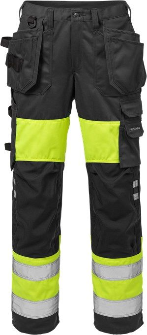 Fristads High Vis Craftsman Trousers Woman CL 1 2129 PLU (Hi Vis Yellow/Black