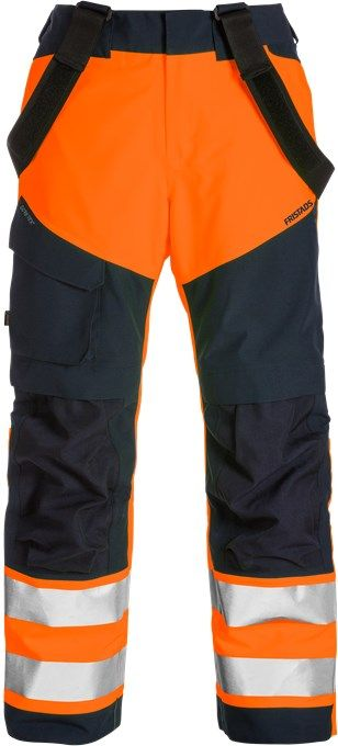 Fristads High Vis Gore-Tex Shell Trousers CL 2 2988 GXB (Hi Vis Orange/Navy)