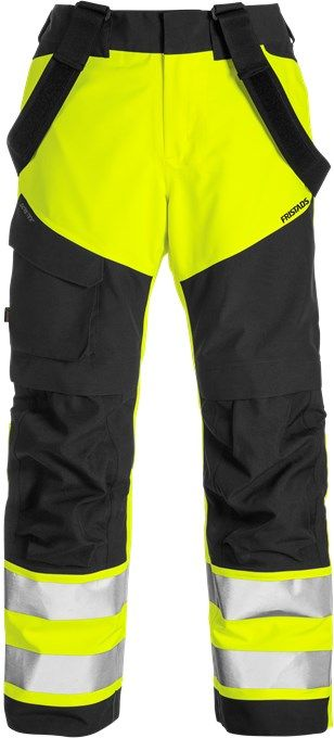 Fristads High Vis Gore-Tex Shell Trousers CL 2 2988 GXB (Hi Vis Yellow/Black)