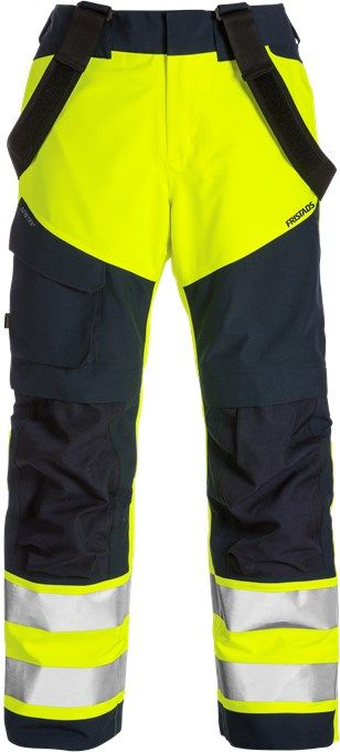 Fristads High Vis Gore-Tex Shell Trousers CL 2 2988 GXB (Hi Vis Yellow/Navy)