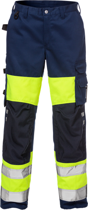 Fristads High Vis Trousers Woman CL 1 2139 PLU (Hi Vis Yellow/Navy)