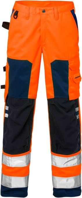 Fristads High Vis Trousers Woman CL 2 2135 PLU (Hi Vis Orange/Navy)
