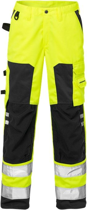 Fristads High Vis Trousers Woman CL 2 2135 PLU (Hi Vis Yellow/Black)