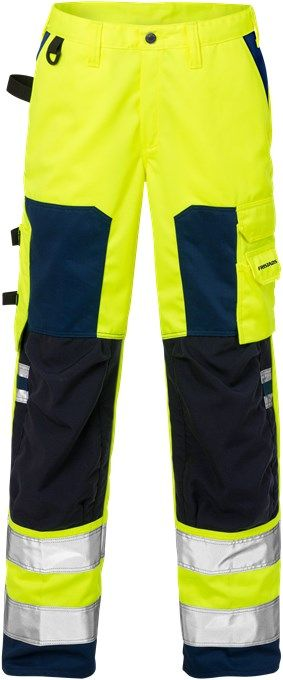 Fristads High Vis Trousers Woman CL 2 2135 PLU (Hi Vis Yellow/Navy)