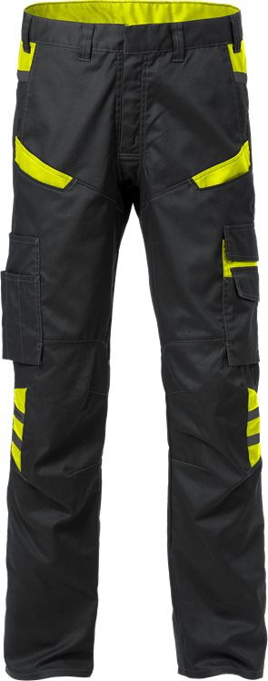 Fristads Trousers 2552 STFP (Black/High Vis Yellow)