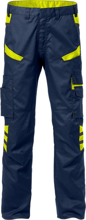 Fristads Trousers 2552 STFP (Navy/High Vis Yellow)