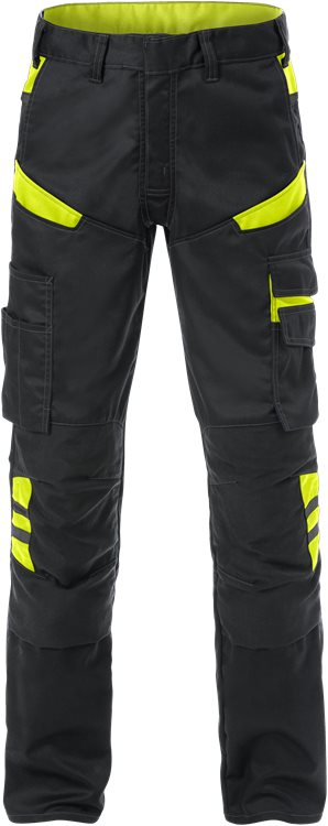 Fristads Trousers  2555 STFP  (Black/High Vis Yellow)