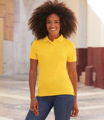Fruit of the Loom Lady Fit Piqué Polo Shirt (SS86 / SS212 / 63212)