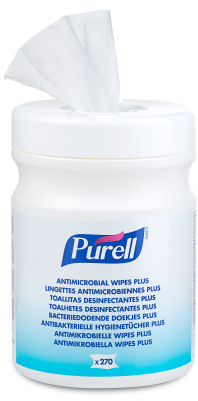 PURELL 9213 Antimicrobial Cleaning Wipes Plus