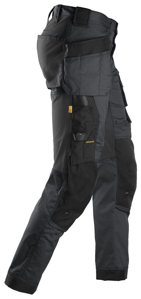 Snickers 6241 AllroundWork Slim Fit Trousers Holster Pockets Steel Grey 30 32