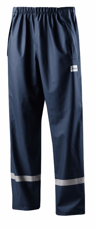 Snickers 8201 Rain Trousers, PU (Navy)