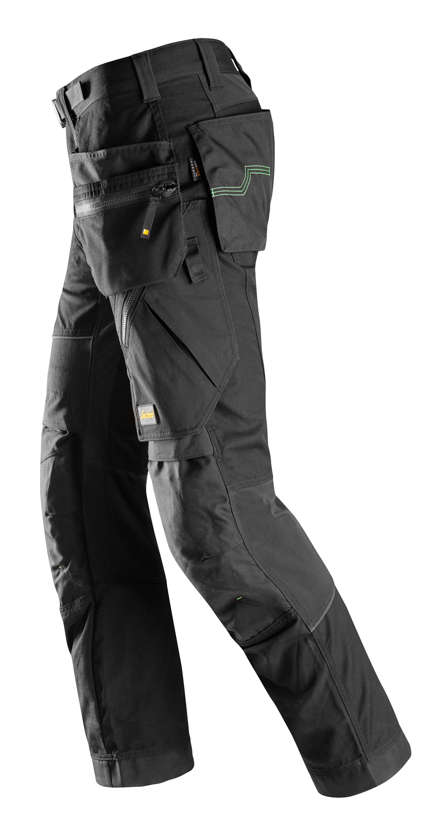 6902 Snickers Black FlexiWork Holster Pockets Work Trousers