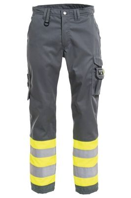 Tranemo 4828 CE-ME Ladies Trousers (Grey/High Vis Yellow)