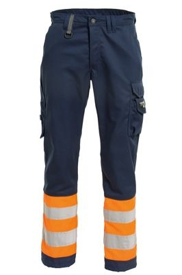 Tranemo 4828 CE-ME Ladies Trousers (Navy/High Vis Orange)