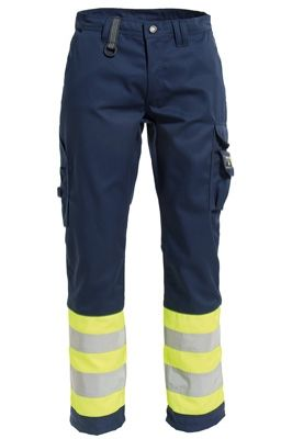 Tranemo 4828 CE-ME Ladies Trousers (Navy/High Vis Yellow)