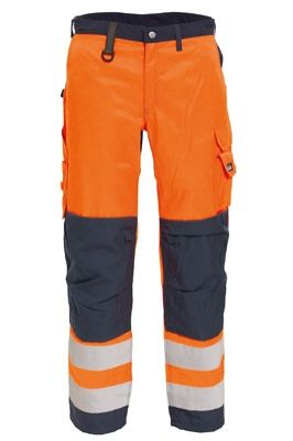 Tranemo 4829 CE-ME Ladies Trousers (High Vis Orange/Navy)